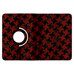 Houndstooth2 Black Marble & Red Wood Kindle Fire Hdx Flip 360 Case by trendistuff