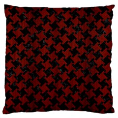Houndstooth2 Black Marble & Red Wood Standard Flano Cushion Case (one Side) by trendistuff