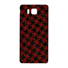 Houndstooth2 Black Marble & Red Wood Samsung Galaxy Alpha Hardshell Back Case by trendistuff