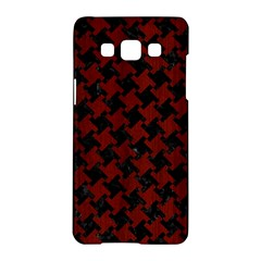 Houndstooth2 Black Marble & Red Wood Samsung Galaxy A5 Hardshell Case  by trendistuff