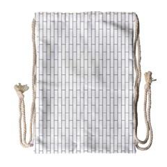 Line Black Drawstring Bag (large) by Alisyart