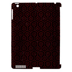 Hexagon1 Black Marble & Red Wood (r) Apple Ipad 3/4 Hardshell Case (compatible With Smart Cover) by trendistuff