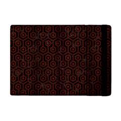 Hexagon1 Black Marble & Red Wood (r) Apple Ipad Mini Flip Case by trendistuff