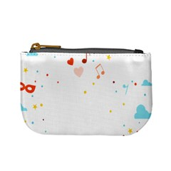 Music Cloud Heart Love Valentine Star Polka Dots Rainbow Mask Sky Mini Coin Purses by Alisyart