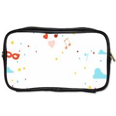 Music Cloud Heart Love Valentine Star Polka Dots Rainbow Mask Sky Toiletries Bags 2 Side by Alisyart