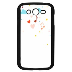 Music Cloud Heart Love Valentine Star Polka Dots Rainbow Mask Sky Samsung Galaxy Grand Duos I9082 Case (black) by Alisyart