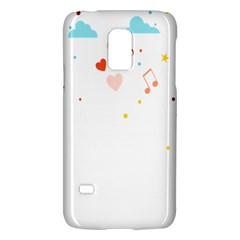 Music Cloud Heart Love Valentine Star Polka Dots Rainbow Mask Sky Galaxy S5 Mini by Alisyart