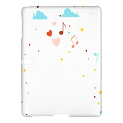 Music Cloud Heart Love Valentine Star Polka Dots Rainbow Mask Sky Samsung Galaxy Tab S (10 5 ) Hardshell Case  by Alisyart