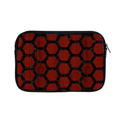 Hexagon2 Black Marble & Red Wood Apple Ipad Mini Zipper Cases by trendistuff