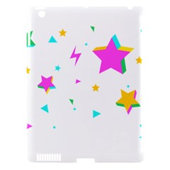 Star Triangle Space Rainbow Apple Ipad 3/4 Hardshell Case (compatible With Smart Cover) by Alisyart