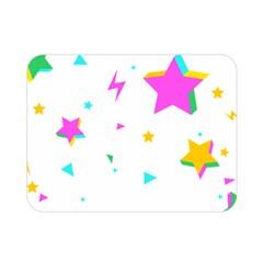 Star Triangle Space Rainbow Double Sided Flano Blanket (mini)  by Alisyart