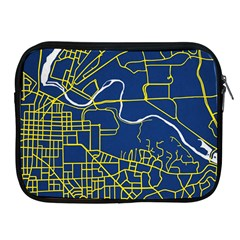 Map Art City Linbe Yellow Blue Apple Ipad 2/3/4 Zipper Cases by Alisyart