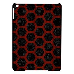 Hexagon2 Black Marble & Red Wood (r) Ipad Air Hardshell Cases by trendistuff