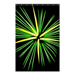 Fireworks Green Happy New Year Yellow Black Sky Shower Curtain 48  X 72  (small)  by Alisyart