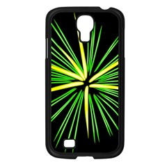 Fireworks Green Happy New Year Yellow Black Sky Samsung Galaxy S4 I9500/ I9505 Case (black) by Alisyart