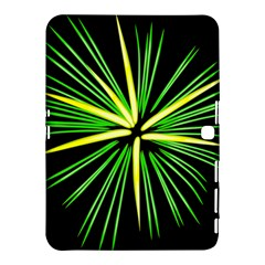Fireworks Green Happy New Year Yellow Black Sky Samsung Galaxy Tab 4 (10 1 ) Hardshell Case  by Alisyart