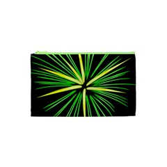 Fireworks Green Happy New Year Yellow Black Sky Cosmetic Bag (xs) by Alisyart