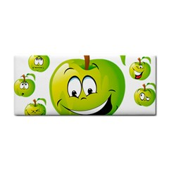 Apple Green Fruit Emoji Face Smile Fres Red Cute Cosmetic Storage Cases by Alisyart
