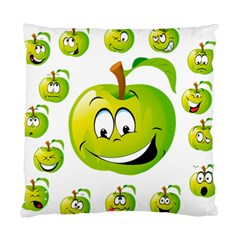 Apple Green Fruit Emoji Face Smile Fres Red Cute Standard Cushion Case (one Side) by Alisyart