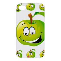 Apple Green Fruit Emoji Face Smile Fres Red Cute Apple Iphone 4/4s Hardshell Case by Alisyart