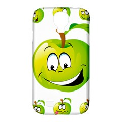 Apple Green Fruit Emoji Face Smile Fres Red Cute Samsung Galaxy S4 Classic Hardshell Case (pc+silicone) by Alisyart