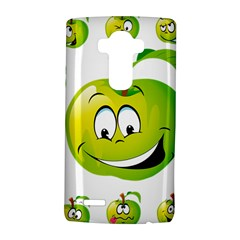 Apple Green Fruit Emoji Face Smile Fres Red Cute Lg G4 Hardshell Case by Alisyart