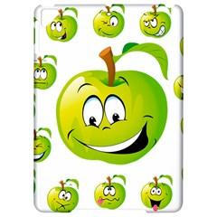 Apple Green Fruit Emoji Face Smile Fres Red Cute Apple Ipad Pro 9 7   Hardshell Case by Alisyart