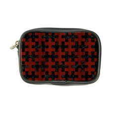 Puzzle1 Black Marble & Red Wood Coin Purse by trendistuff