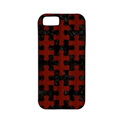 Puzzle1 Black Marble & Red Wood Apple Iphone 5 Classic Hardshell Case (pc+silicone) by trendistuff