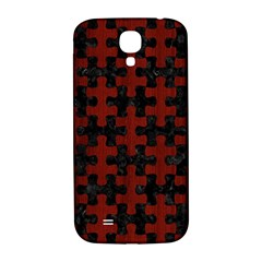 Puzzle1 Black Marble & Red Wood Samsung Galaxy S4 I9500/i9505  Hardshell Back Case by trendistuff