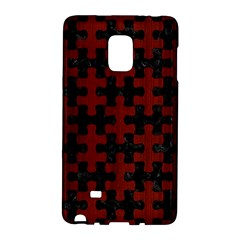 Puzzle1 Black Marble & Red Wood Galaxy Note Edge by trendistuff