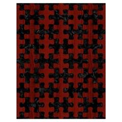 Puzzle1 Black Marble & Red Wood Drawstring Bag (large) by trendistuff