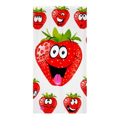 Strawberry Fruit Emoji Face Smile Fres Red Cute Shower Curtain 36  X 72  (stall)  by Alisyart