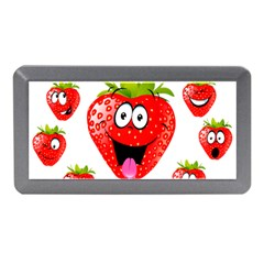 Strawberry Fruit Emoji Face Smile Fres Red Cute Memory Card Reader (mini) by Alisyart