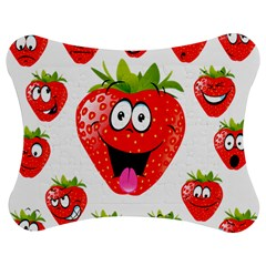 Strawberry Fruit Emoji Face Smile Fres Red Cute Jigsaw Puzzle Photo Stand (bow) by Alisyart
