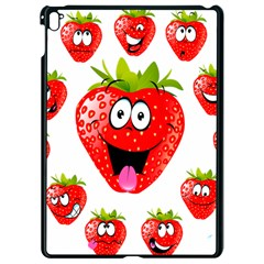 Strawberry Fruit Emoji Face Smile Fres Red Cute Apple Ipad Pro 9 7   Black Seamless Case by Alisyart