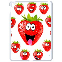 Strawberry Fruit Emoji Face Smile Fres Red Cute Apple Ipad Pro 9 7   White Seamless Case by Alisyart