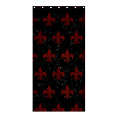 Royal1 Black Marble & Red Wood Shower Curtain 36  X 72  (stall)  by trendistuff