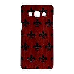 Royal1 Black Marble & Red Wood (r) Samsung Galaxy A5 Hardshell Case  by trendistuff