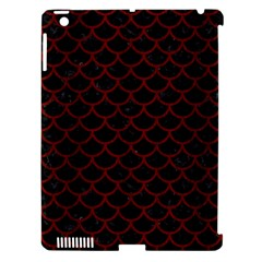 Scales1 Black Marble & Red Wood (r) Apple Ipad 3/4 Hardshell Case (compatible With Smart Cover) by trendistuff