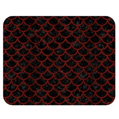 Scales1 Black Marble & Red Wood (r) Double Sided Flano Blanket (medium)  by trendistuff