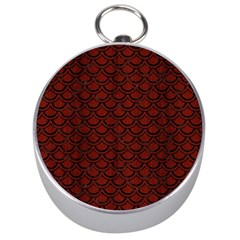 Scales2 Black Marble & Red Wood Silver Compasses by trendistuff