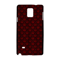 Scales2 Black Marble & Red Wood Samsung Galaxy Note 4 Hardshell Case by trendistuff