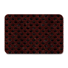Scales2 Black Marble & Red Wood (r) Plate Mats by trendistuff