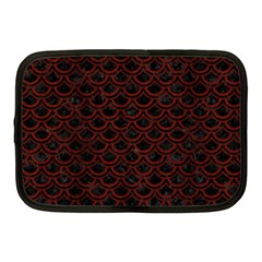 Scales2 Black Marble & Red Wood (r) Netbook Case (medium)  by trendistuff