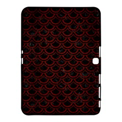 Scales2 Black Marble & Red Wood (r) Samsung Galaxy Tab 4 (10 1 ) Hardshell Case
