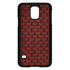 Scales3 Black Marble & Red Wood Samsung Galaxy S5 Case (black) by trendistuff