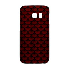 Scales3 Black Marble & Red Wood Galaxy S6 Edge by trendistuff