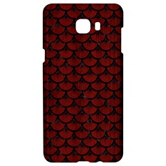 Scales3 Black Marble & Red Wood Samsung C9 Pro Hardshell Case  by trendistuff