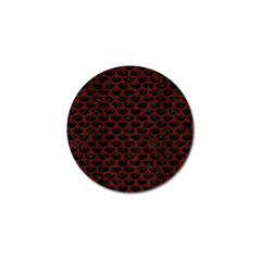 Scales3 Black Marble & Red Wood (r) Golf Ball Marker by trendistuff